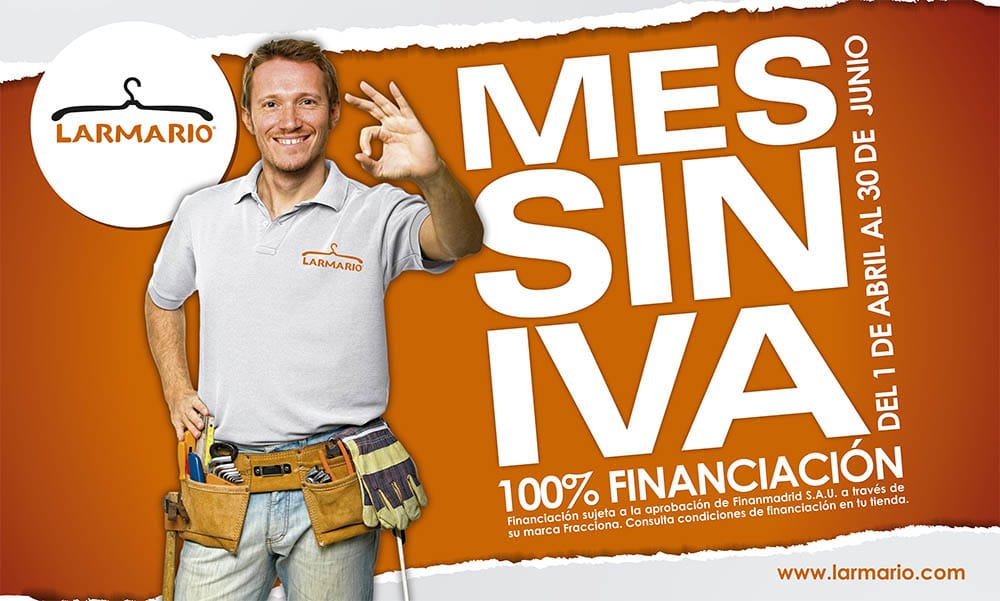 Promoción abril-junio 2017: ¡Mes sin IVA!