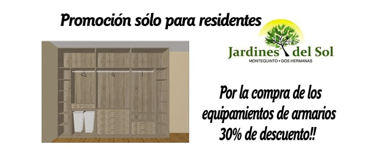 "Exclusive promotion for residents of ""Jardines del Sol"""