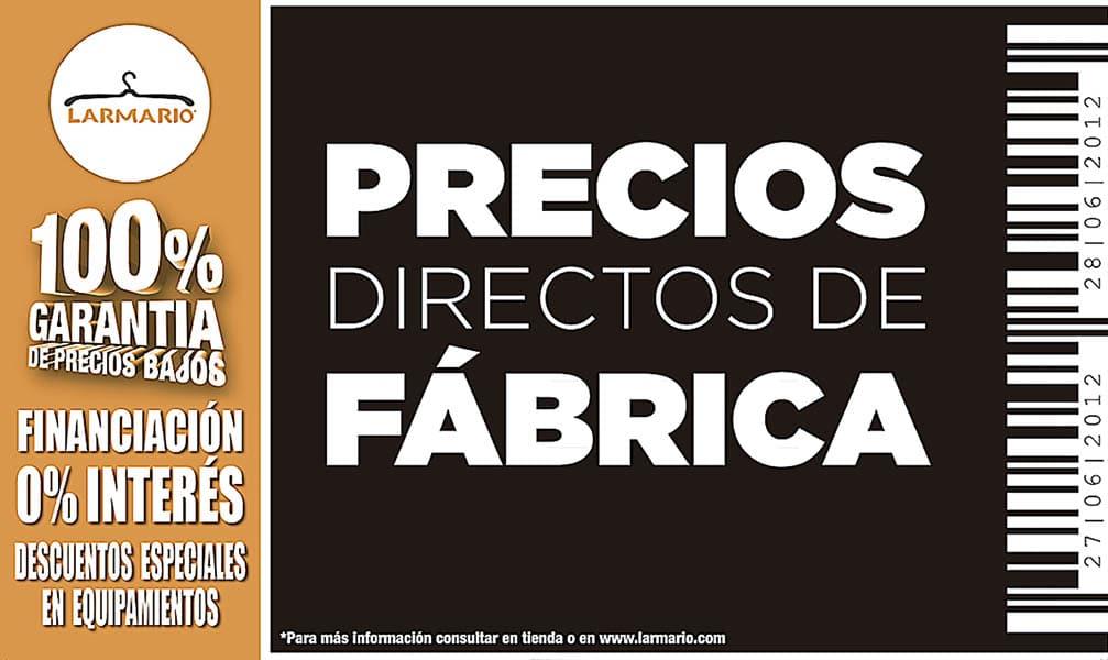 Promoción noviembre 2019: Precios directos de fábrica | Larmario